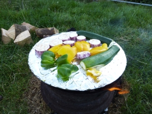 Grilling ratatouille Vegetables
